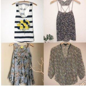 Anthropologie Lot 4 Small Tops Maeve fei Lilka